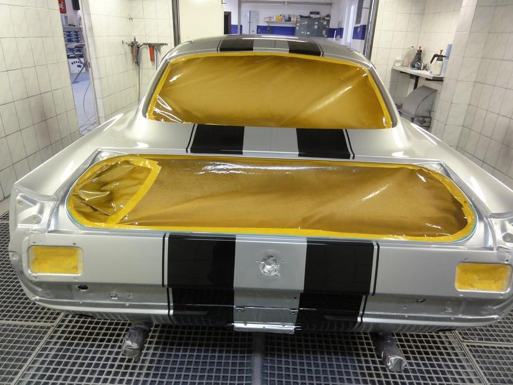 mustang fastback restauration berger cars werkstatt f r corvette mustang u a us. Black Bedroom Furniture Sets. Home Design Ideas
