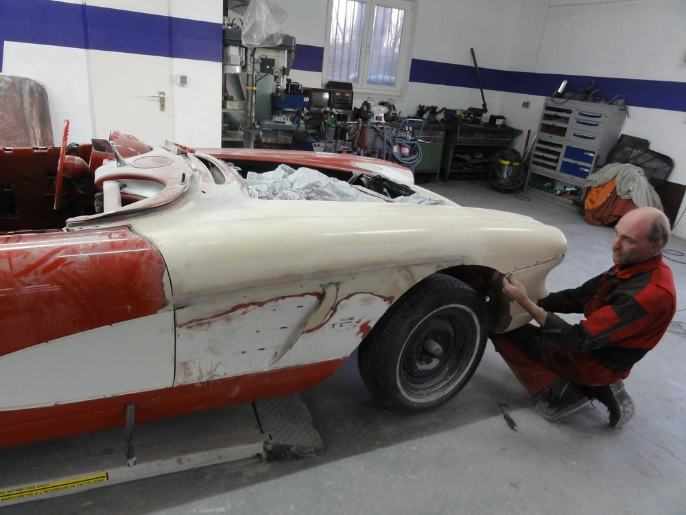 corvette c1 reparatur beendet berger cars werkstatt f r corvette mustang u a us. Black Bedroom Furniture Sets. Home Design Ideas